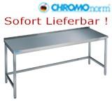 Chromonorm Edelstahl Arbeitstische - TO - Tiefe 70cm - Lagerware