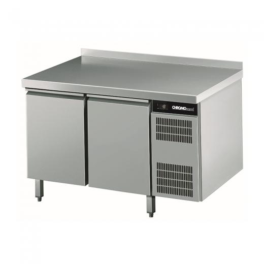 Chromonorm Edelstahl Bäckerei Tiefkühltisch - 2 Türen - TPHK