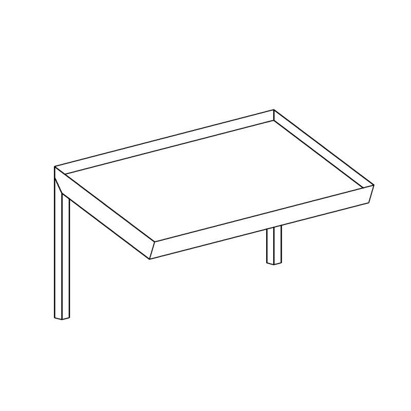 eco edelstahl sp ltisch 1 becken abtropffl che. Black Bedroom Furniture Sets. Home Design Ideas