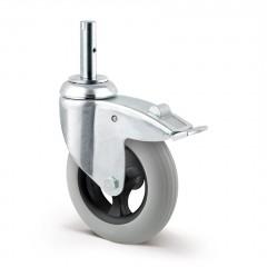 Lenkrolle luftidentisch ø 125 mm mit Bremse Zapfenbefestigung