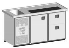 EGL-Theke E18TZ - 1 Becken 1xTür - 1xZugabteil