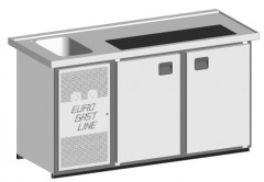 EGL-Theke E18TT - 1 Becken 2xTür