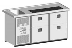 EGL-Theke E18ZZ - 1 Becken 2xZugabteil