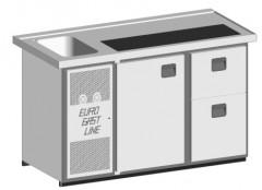 EGL-Theke E16TZ - 1 Becken 1xTür - 1xZugabteil