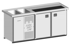 EGL-Theke E21TT - 2 Becken 2xTür