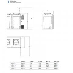 Chromonorm Abfallkühler für 1x120-Liter-Behälter
