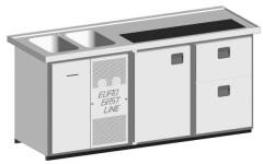 EGL-Theke E21TZ - 2 Becken 1xTür - 1xZugabteil