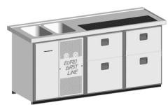 EGL-Theke E21ZZ - 2 Becken 2xZugabteil