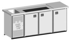 EGL-Theke E24TTT - 1 Becken 3xTür