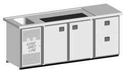 EGL-Theke E24TTZ - 1 Becken 2xTür - 1xZugabteil