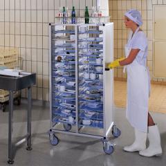 Hupfer Alu Tablett Abräumwagen TAWALU 2x2TRAPEZ - 1635