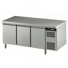 Chromonorm Edelstahl Bäckerei Kühltisch - 3 Türen - TPAK