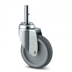 Lenkrolle Stahl-verzinkt ø 125 mm ohne Bremse Zapfenbefestigung