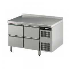 Chromonorm Edelstahl Kühltisch - 4 Schubladen - TPHK