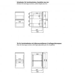 Chromonorm Einbau Getränke Kühlmodul 1T1S-MR