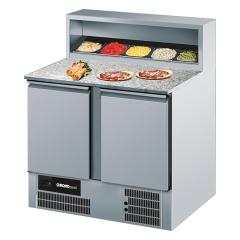Chromonorm Pizza Kühltisch mit 2 Türen