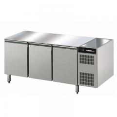 Chromonorm Edelstahl Bäckerei Kühltisch - 3 Türen - AOTP