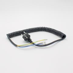 Hupfer Spiralkabel 3G1,5 mit Schuko-Winkelstecker