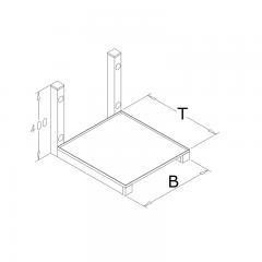 Edelstahl Mikrowellenbord - MWK-425