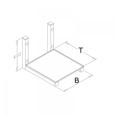 Edelstahl Mikrowellenbord - MWK-650
