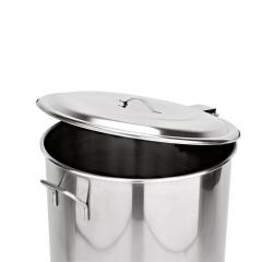 Edelstahl Tret-Abfallbehälter Ø 400 mm - 65 l