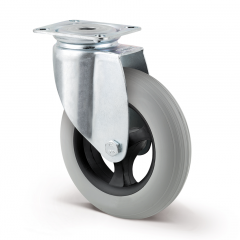 Lenkrolle luftidentisch ø 125 mm ohne Bremse mit Anschraubplatte