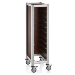 Tablettwagen Kirscheoptik 1x10 Tablett GN - 530x325mm