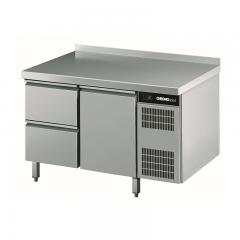 Chromonorm Edelstahl Tiefkühltisch - 2 Schubladen - 1 Tür - TPHK
