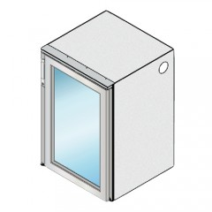 Einbau Getränke Kühlmodul 1 Glastür Zentralkälte T56