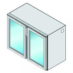 Einbau Getränke Kühlmodul 2 Glastüren Zentralkälte T69