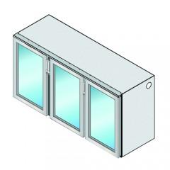 Einbau Getränke Kühlmodul 3 Glastüren Zentralkälte T69