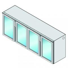 Einbau Getränke Kühlmodul 4 Glastüren Zentralkälte T69