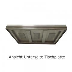 CAT-Edelstahl Arbeitstisch mit Unterbau offen - ATV06-04-30