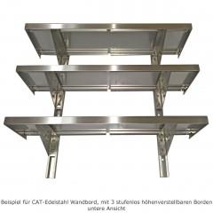 CAT Edelstahl Wandbord WBH 100-40