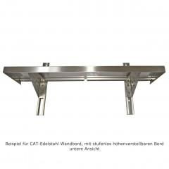CAT Edelstahl Wandbord WBH 120-40