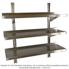 CAT Edelstahl Wandbord WBH 40-30