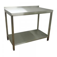 CAT-Edelstahl Arbeitstisch mit Ablageboden - ATB08-04-30