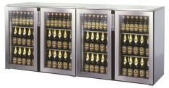 Einbau Getränke Kühlung 4xGlastür Zentralkälte T44