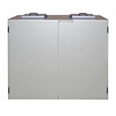 K&M Holland Müllkühler für 2x240-Liter-Behälter - Edelstahl Zentralkälte