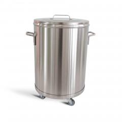 Hupfer Edelstahl Behälterrolli BHR 65 SFE - 65 Liter