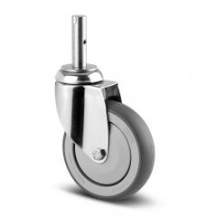 Lenkrolle Edelstahl ø 125 mm ohne Bremse Zapfenbefestigung