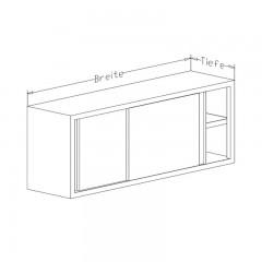 Edelstahl Wandhängeschrank WHSS - 1000x300 mm