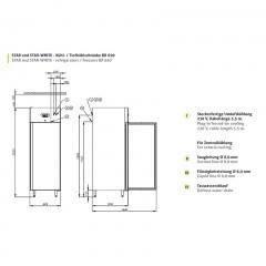 Chromonorm Gewerbe Kühlschrank STAR-WHITE BR 650 GN 2/1
