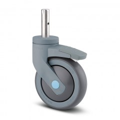 Lenkrolle Kunststoff ø 125 mm mit Bremse Zapfenbefestigung